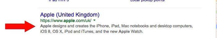 Meta-description-website-optimisation-example