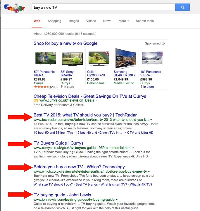 Website SEO example
